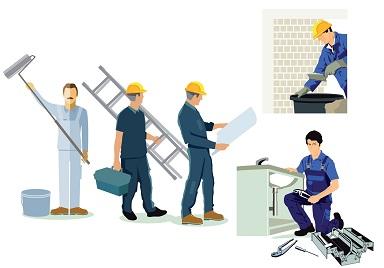 Handwerker, Installateur, Klempner und Architekt